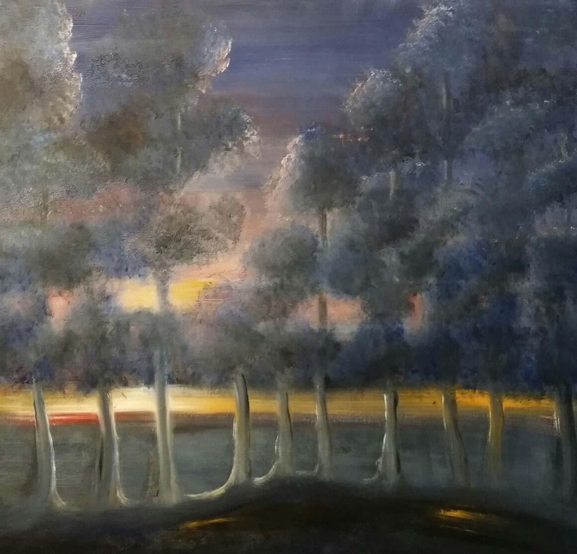 Kveldslys ved Mertajärvi - Heidi Frich Andersen